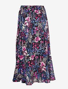LondonIW Skirt - BLACK FLOWER EXPLOSION