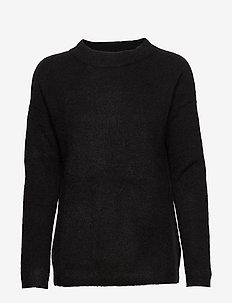 PapinaIW Oneck Pullover - truien - black