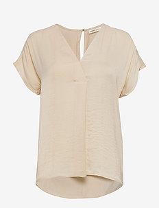 RindaIW Top - short-sleeved blouses - french nougat