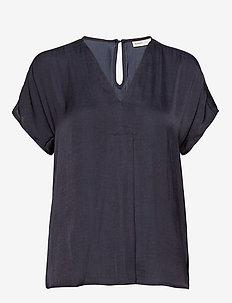 RindaIW Top - short-sleeved blouses - marine blue