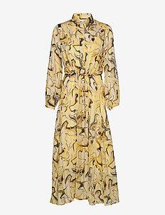 ReemaIW Dress - skjortekjoler - yellow marbling