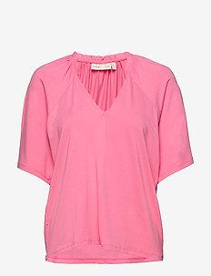AbbeyIW Blouse - blouses korte mouwen - morning glory
