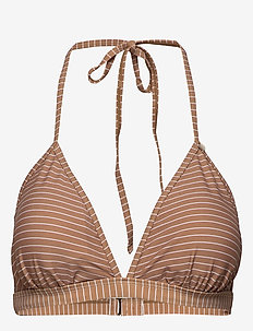 AliaIW Bikini Top - CINNAMON / WHITE SMOKE STRIPE