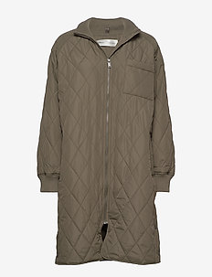 EktraIW Quilted Coat - quilted jackets - beetle green