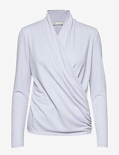 AlanoIW Wrap Blouse - bluzki z długimi rękawami - halogen blue