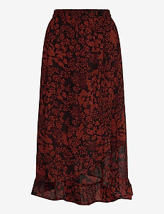 FlorizzaIW Skirt - midi skirts - cayenne poetic flower