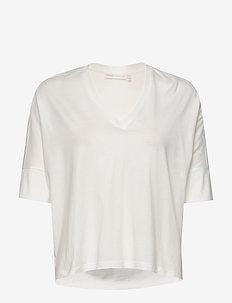 HuldaIW T-shirt - basic t-shirts - white smoke