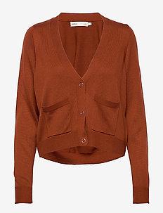 HilleriIW Cardigan - swetry rozpinane - cayenne