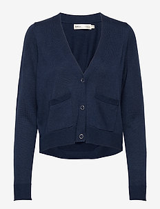 HilleriIW Cardigan - swetry rozpinane - ink blue