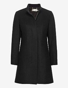 LevannaIW Crew Coat - wełniane płaszcze - black