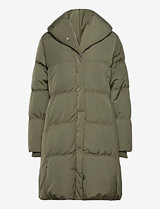 LiyaIW Cups Coat - dunkappor - beetle green