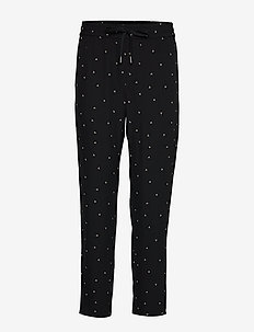 ZanetaIW Pant Nica Fit - raka byxor - black spaced dots