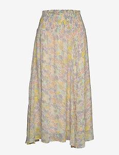 HaydenIW Midi Skirt - maxi nederdele - pastel watercolour florals