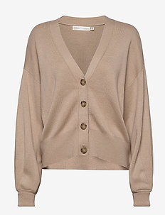 SammyIW Cardigan - swetry rozpinane - powder beige