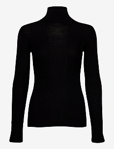 SivIW Roleneck Pullover - turtlenecks - black