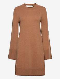 SiljaIW Dress - sukienki dzianinowe - winter beige