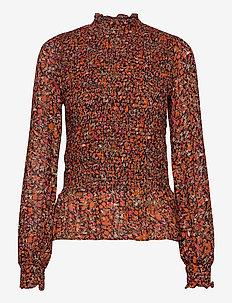 PicaIW Blouse - bluzki z długimi rękawami - orange small flowers