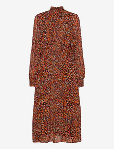 PicaIW Dress - robes midi - orange small flowers