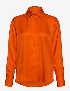 PaulineIW Shirt - bluzki z długimi rękawami - deep orange