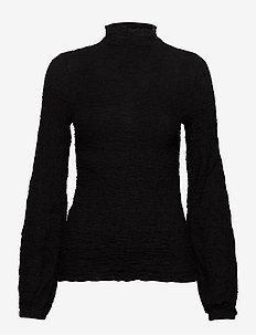 CalistaIW Blouse - long sleeved blouses - black
