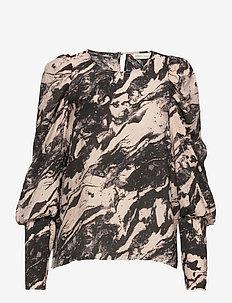 GroIW Blouse - langærmede bluser - marble