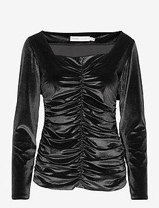 FarylIW Blouse - langærmede bluser - black