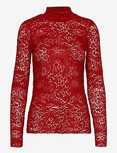 OctavaIW Blouse - langærmede bluser - true red