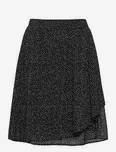 VilmaIW Skirt - midi skjørt - black minimal dot