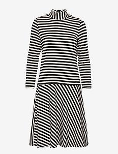 HubertIW Dress - midi kjoler - black / french nougat