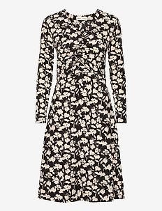 HenryIW Dress - midi kjoler - black flower contur