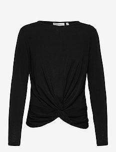 VarunIW Blouse - blouses med lange mouwen - black