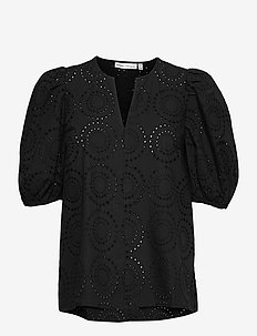 HarleneIW Debby Blouse - kortærmede bluser - black