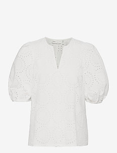HarleneIW Debby Blouse - kortærmede bluser - pure white
