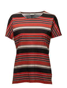 Yoki Tshirt - MULTI STRIPE RED