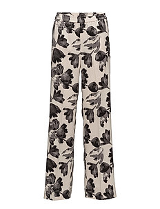 Chan Wide Pant HW - WATERCOLOR FLOWER FRENCH N