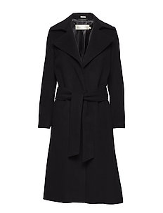 Sai Belted Coat Long OW - BLACK