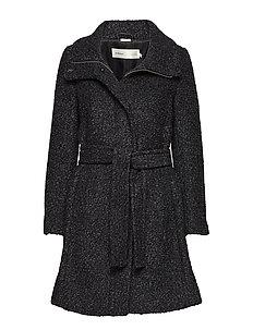 Seola Zip Coat OW - DARK GREY MELANGE