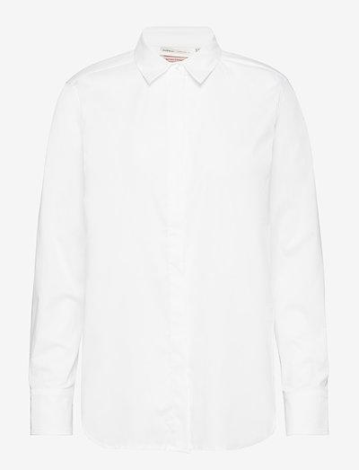 Venus Shirt - langermede skjorter - pure white