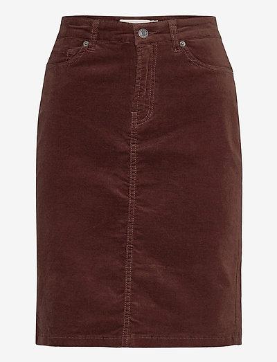 Tille Skirt - midi nederdele - coffee brown