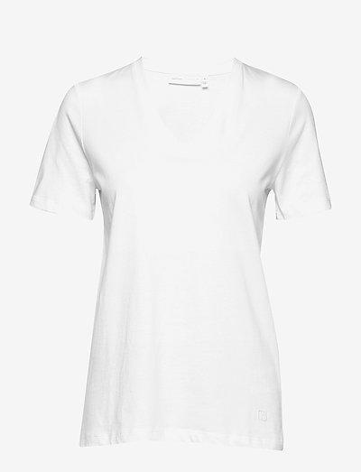 Kaila V-neck T-shirt - t-shirt & tops - white smoke