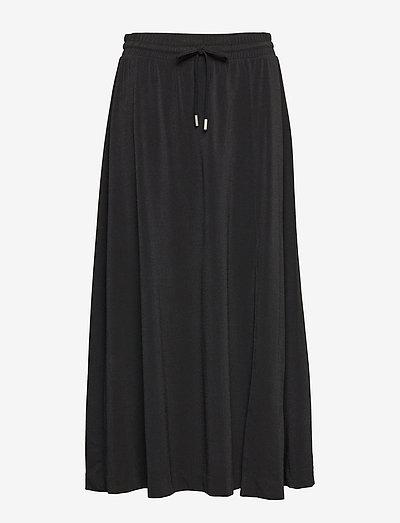 NabaIW Skirt - midi nederdele - black