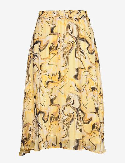 ReemaIW Skirt - midi nederdele - yellow marbling