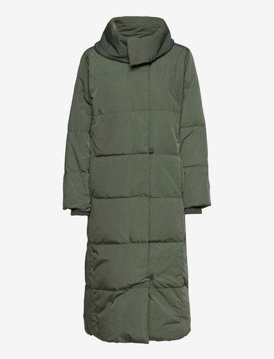CiyaIW Boxy Coat - dunkåper - green olive