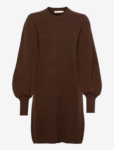 SammyIW Dress - strikkede kjoler - coffee brown