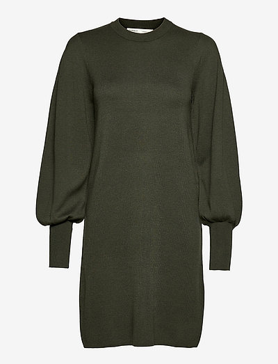 SammyIW Dress - strikkede kjoler - green olive