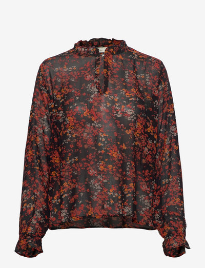 BarbelIW Blouse - langermede bluser - red dried flowers