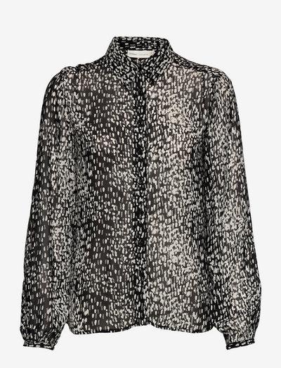 BarbelIW Shirt - langermede bluser - black shadow dots