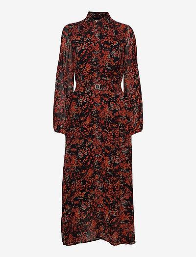BarbelIW Long Dress - hverdagskjoler - red dried flowers