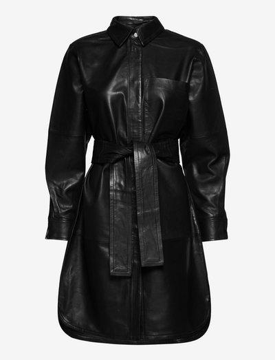 CadixIW Shirt Dress - skjortekjoler - black