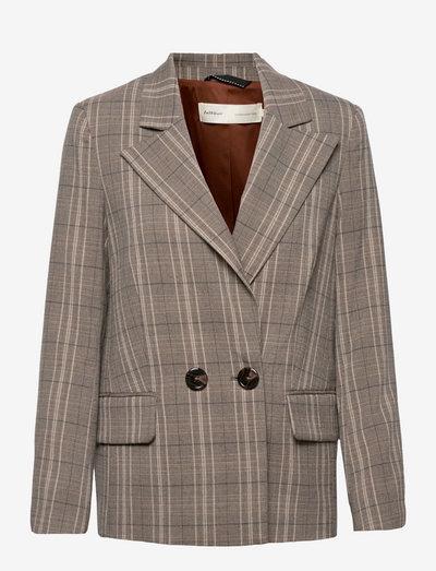 CallinaIW Blazer - casual blazers - brown check